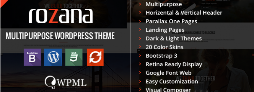 Rozana – Responsive MultiPurpose WordPress Theme (Corporate)