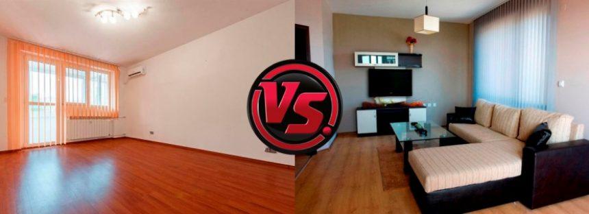 Apartament mobilat vs apartament nemobilat. Ce inchiriezi?