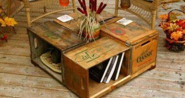 5 idei pentru a decora livingul cu materiale reciclate